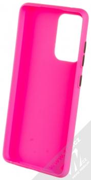 1Mcz Solid TPU ochranný kryt pro Samsung Galaxy A52, Galaxy A52 5G sytě růžová (hot pink) zepředu