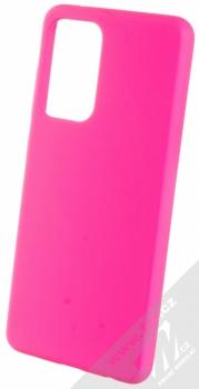 1Mcz Solid TPU ochranný kryt pro Samsung Galaxy A52, Galaxy A52 5G sytě růžová (hot pink)