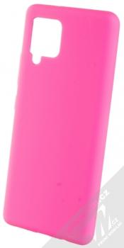 1Mcz Solid TPU ochranný kryt pro Samsung Galaxy A42 5G sytě růžová (hot pink)