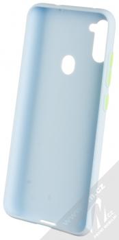 1Mcz Solid TPU ochranný kryt pro Samsung Galaxy M11 světle modrá (light blue) zepředu