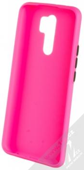 1Mcz Solid TPU ochranný kryt pro Xiaomi Redmi 9 sytě růžová (hot pink) zepředu
