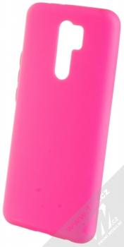 1Mcz Solid TPU ochranný kryt pro Xiaomi Redmi 9 sytě růžová (hot pink)