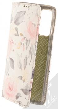 1Mcz Trendy Book Keřík růží 1 flipové pouzdro pro Samsung Galaxy S20 FE bílá (white)