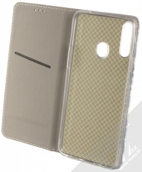 1Mcz Trendy Book Měňavé listí 2 flipové pouzdro pro Samsung Galaxy A20s bílá (white) otevřené