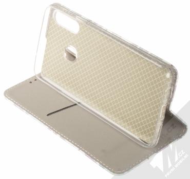 1Mcz Trendy Book Měňavé listí 2 flipové pouzdro pro Samsung Galaxy A20s bílá (white) stojánek