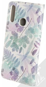1Mcz Trendy Book Měňavé listí 2 flipové pouzdro pro Samsung Galaxy A20s bílá (white) zezadu