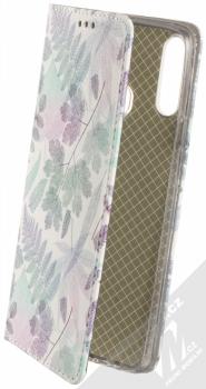 1Mcz Trendy Book Měňavé listí 2 flipové pouzdro pro Samsung Galaxy A20s bílá (white)