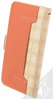 4smarts Ultimag Wallet Norwalk Croco do 5,2 univerzální flipové pouzdro béžová (beige) zezadu