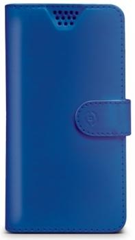 Celly Wally Unica XL univerzální flipové pouzdro pro mobilní telefon, mobil, smartphone modrá (blue)