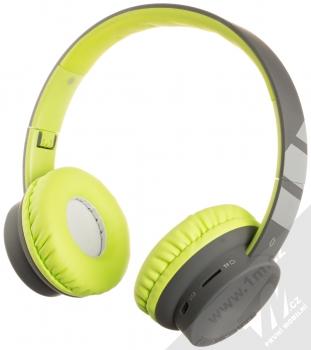 Aligator AH02 Bluetooth stereo sluchátka šedá zelená (grey lime green)