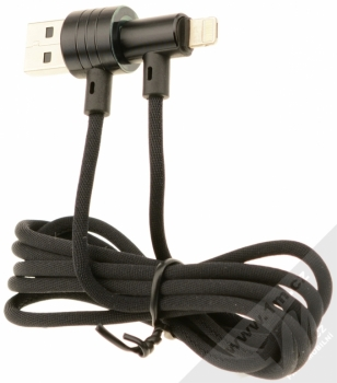 Baseus T-Type zalomený USB kabel s Apple Lightning konektorem černá (black) komplet