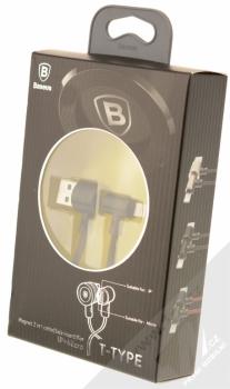 Baseus T-Type zalomený USB kabel s Apple Lightning konektorem černá (black) krabička