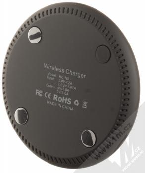 Blue Star KC-N2 Fast Charge Wireless Charger podložka pro bezdrátové nabíjení černá (black) zezdola