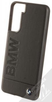 BMW Signature Real Leather ochranný kryt z pravé kůže pro Samsung Galaxy S21 (BMHCS21SSLLBK) černá (black)