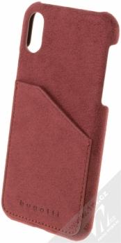 Bugatti Londra Ultrasuede Snap Case ochranný kryt ze semiše pro Apple iPhone X malinově červená (raspberry red)