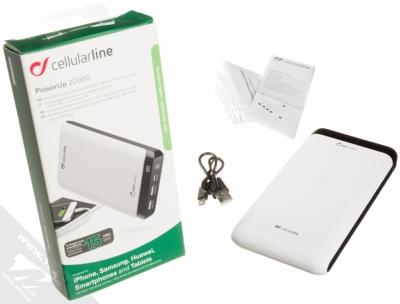CellularLine PowerUp záložní zdroj 20000mAh bílá černá (white black) balení