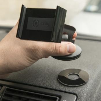 Celly FLEX14 univerzální držák do auta s přísavkou černá (black) použití