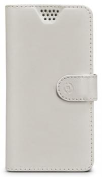 Celly Wally Unica L univerzální flipové pouzdro pro mobilní telefon, mobil, smartphone bílá (white)