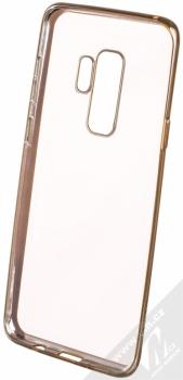 Devia Crystal Soft Case Glitter pokovený ochranný kryt s motivem pro Samsung Galaxy S9 Plus zlatá (champagne gold) zepředu