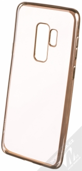 Devia Crystal Soft Case Glitter pokovený ochranný kryt s motivem pro Samsung Galaxy S9 Plus zlatá (champagne gold)