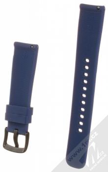 Devia Deluxe Sport Band Diagonal silikonový pásek na zápěstí s univerzální osičkou 20mm tmavě modrá (navy blue) zezadu