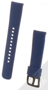 Devia Deluxe Sport Band Diagonal silikonový pásek na zápěstí s univerzální osičkou 20mm tmavě modrá (navy blue)