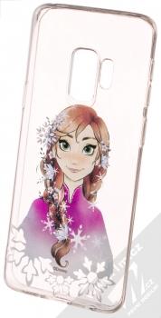 Disney Anna 001 TPU ochranný silikonový kryt s motivem pro Samsung Galaxy S9 průhledná (transparent)