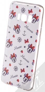 Disney Minnie Mouse 007 TPU ochranný silikonový kryt s motivem pro Samsung Galaxy S8 bílá (white)