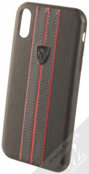 Ferrari Urban ochranný kryt pro Apple iPhone XR (FEURHCI61BKR) černá červená (black red)
