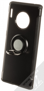 Forcell Carbon Ring ochranný kryt s držákem na prst pro Huawei Mate 30 Pro černá (black) držák