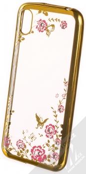Forcell Diamond Flower TPU ochranný kryt pro Huawei Y5 (2019), Honor 8S zlatá (gold)