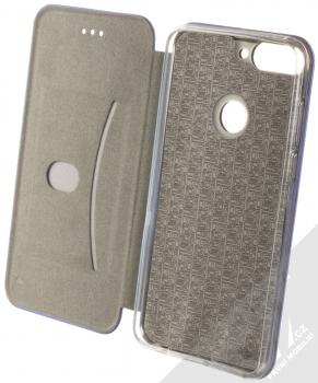 Forcell Elegance Book flipové pouzdro pro Huawei Y7 Prime (2018), Honor 7C tmavě modrá (dark blue) otevřené