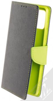 Forcell Fancy Book flipové pouzdro pro Samsung Galaxy A71 modrá limetkově zelená (blue lime)