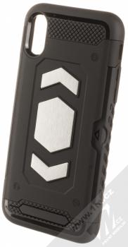 Forcell Magnet odolný ochranný kryt s kapsičkou a kovovým plíškem pro Apple iPhone X, iPhone XS černá (black)