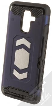 Forcell Magnet odolný ochranný kryt s kapsičkou a kovovým plíškem pro Samsung Galaxy A6 Plus (2018) tmavě modrá (dark blue)