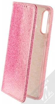 Forcell Shining Book třpytivé flipové pouzdro pro Huawei P30 Lite růžová (pink)