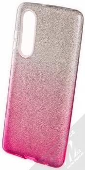 Forcell Shining třpytivý ochranný kryt pro Huawei P30 stříbrná růžová (silver pink)