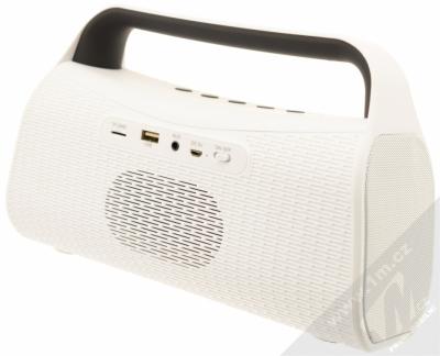 Forever BS-610 Bluetooth reproduktor s LED efekty a FM rádiem bílá (white) zezadu