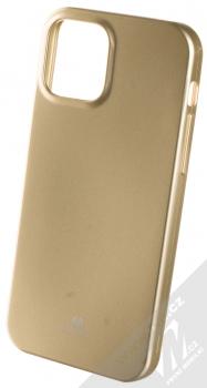 Goospery Jelly Case TPU ochranný kryt pro Apple iPhone 12, iPhone 12 Pro zlatá (gold)