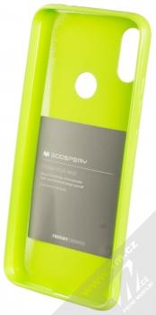 Goospery Jelly Case TPU ochranný silikonový kryt pro Xiaomi Redmi Note 7 limetkově zelená (lime green) zepředu