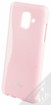 Goospery Jelly Case TPU ochranný silikonový kryt pro Samsung Galaxy A6 (2018) světle růžová (light pink)