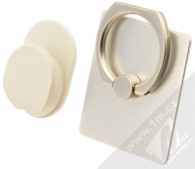 GreenGo Sticky Smart-Ring držák na prst stříbrná (silver)
