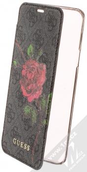 Guess 4G Flower Desire Booktype Case flipové pouzdro pro Samsung Galaxy S9 Plus (GUFLBKS9L4GROG) tmavě šedá (dark grey)