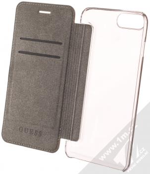 Guess Charms 4G flipové pouzdro pro Apple iPhone 6 Plus, iPhone 6S Plus, iPhone 7 Plus, iPhone 8 Plus (GUFLBKI8LGF4GBR) hnědá (brown) otevřené