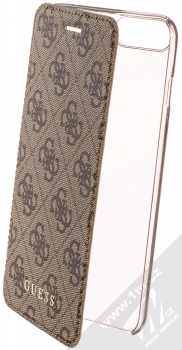 Guess Charms 4G flipové pouzdro pro Apple iPhone 6 Plus, iPhone 6S Plus, iPhone 7 Plus, iPhone 8 Plus (GUFLBKI8LGF4GBR) hnědá (brown)