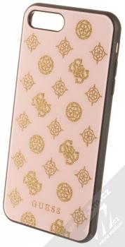 Guess Layer Glitter Peony ochranný kryt pro Apple iPhone 7 Plus, iPhone 8 Plus (GUHCI8LTGGPLP) světle růžová (light pink)