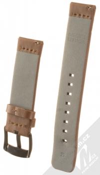 Handodo Leather Single Color Strap kožený pásek na zápěstí pro Huawei Watch GT hnědá (brown) zezadu