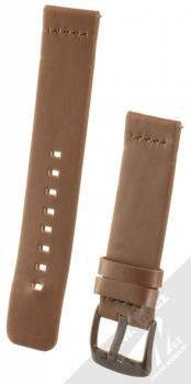 Handodo Leather Single Color Strap kožený pásek na zápěstí pro Huawei Watch GT hnědá (brown)