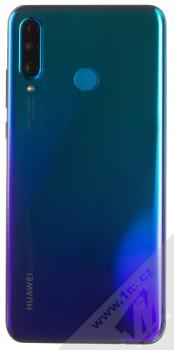 Huawei P30 Lite modrá (peacock blue) zezadu