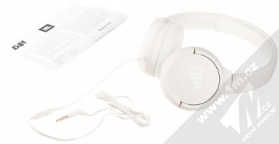 JBL TUNE 500 stereo sluchátka bílá (white) balení
